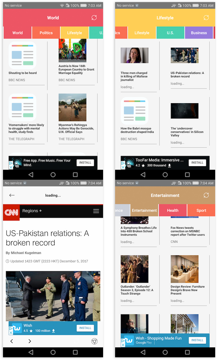cCubyCode FeedNews Universal RSS News APP | Images 2