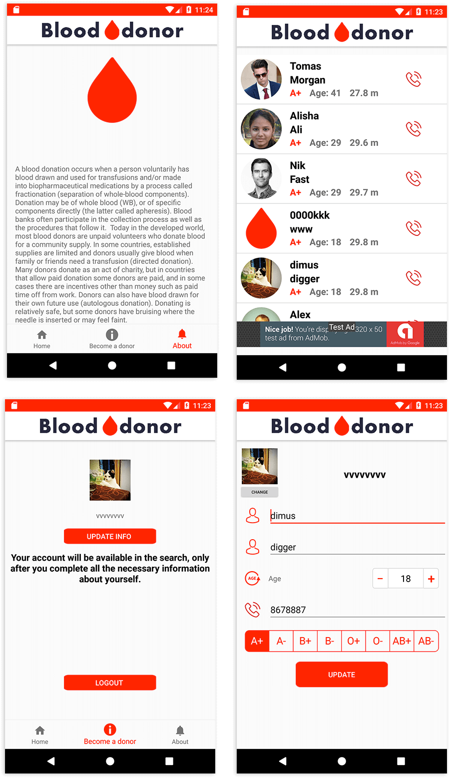 Simpleapp Blood Donation App | Images 1