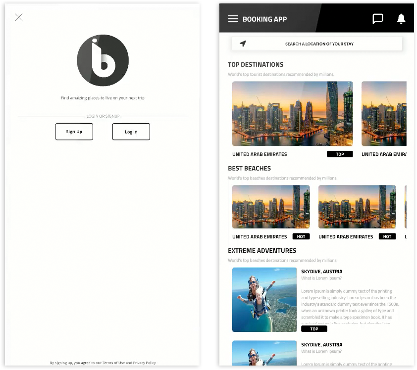Booking App | Images 2