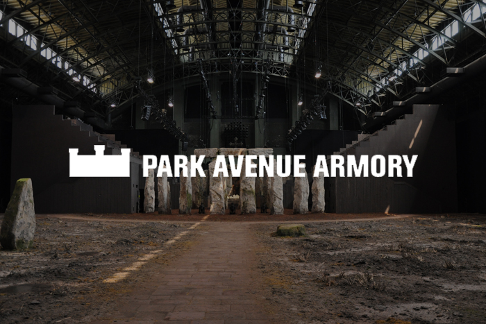 Park Ave. Armory, NY / Custom Stairs and Seating Arrangements flanking Performance Area