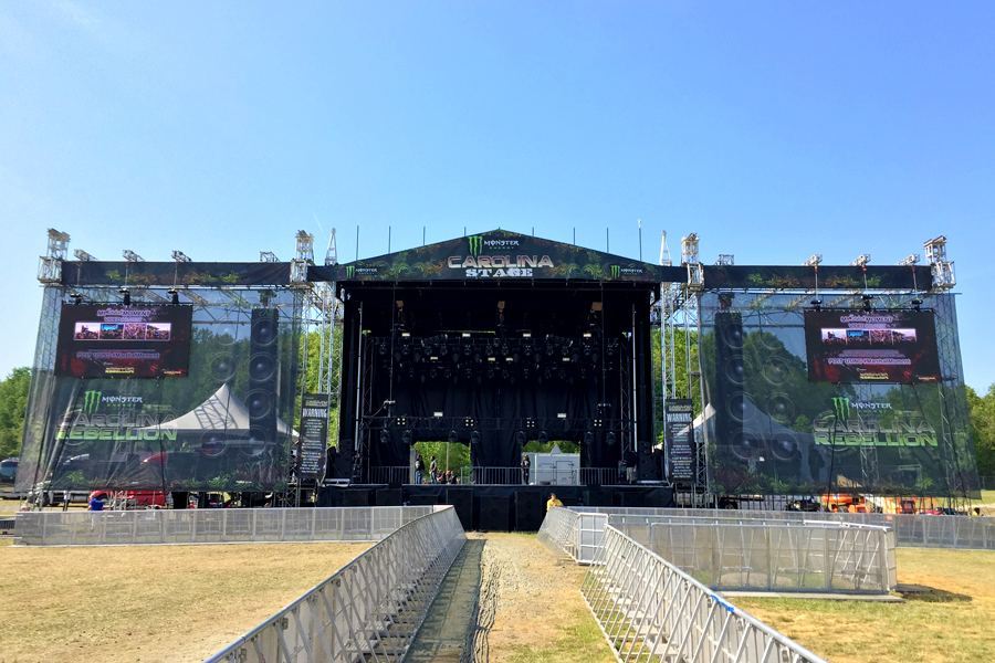 Concord, NC / SAM-550 Mobile Stage with Custom Truss Tower Wings