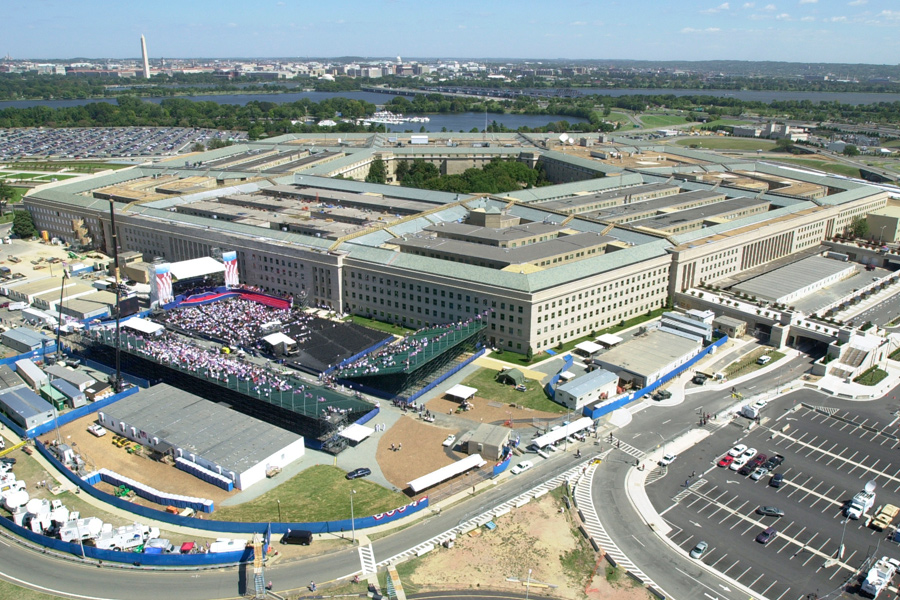 The Pentagon / Aerial View of Hercules Grid Stage