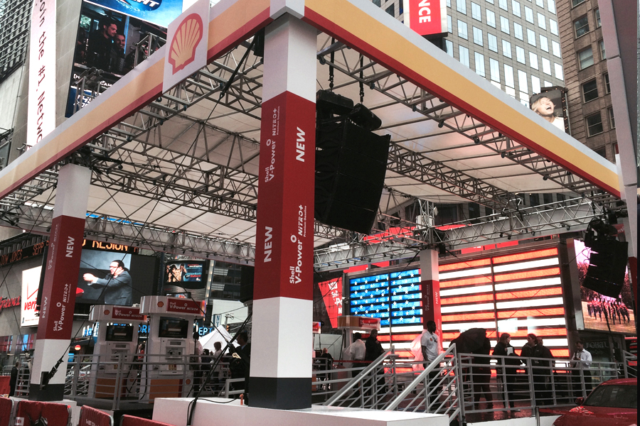 Times Square, NYC / Custom Truss Grid Stage