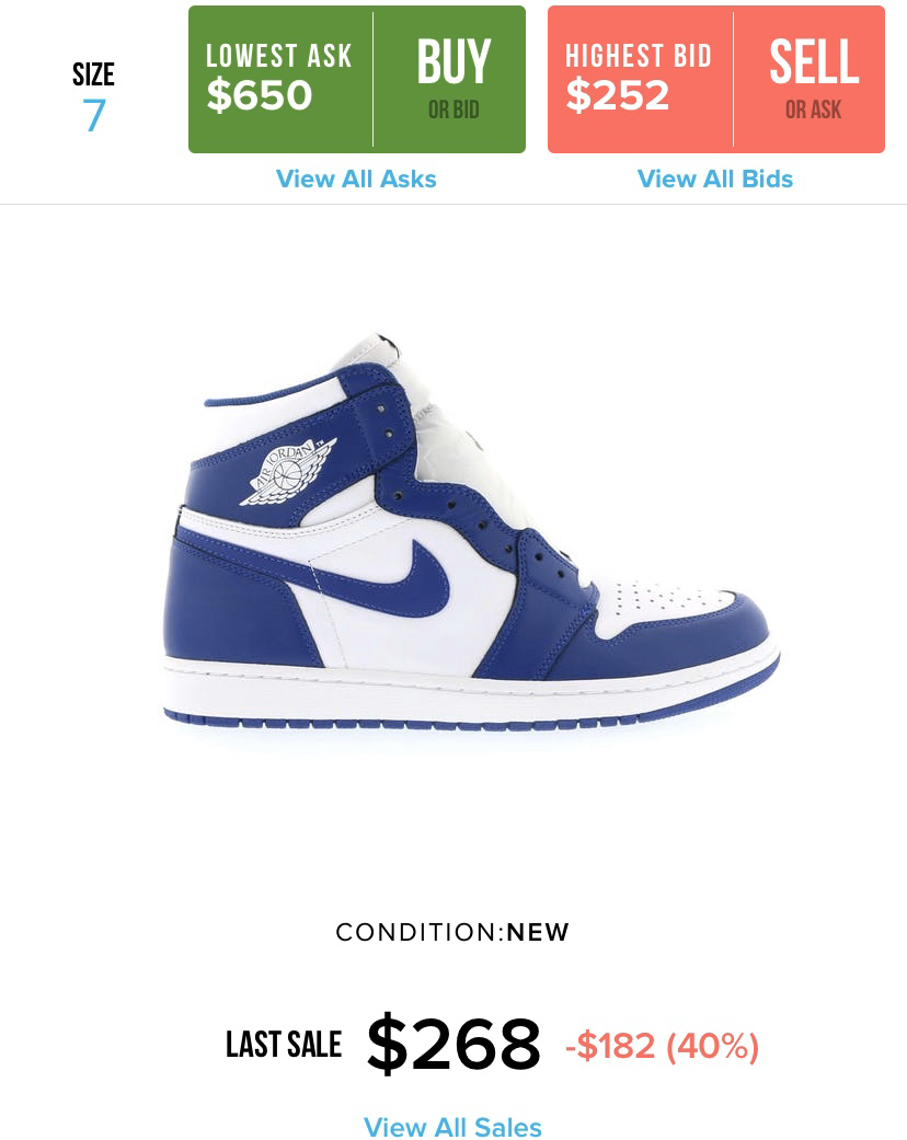 Air Jordan - $1 - Size 7