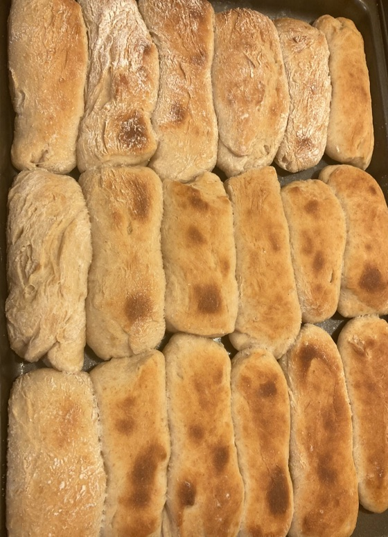 Bread Machine Sourdough Hot Dog Buns