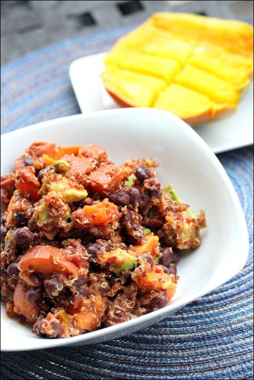 Sweet Potato Black Bean Quinoa Salad - Fannetastic Food | Registered Dietitian Blog | Recipes + Healthy Living + Fitness