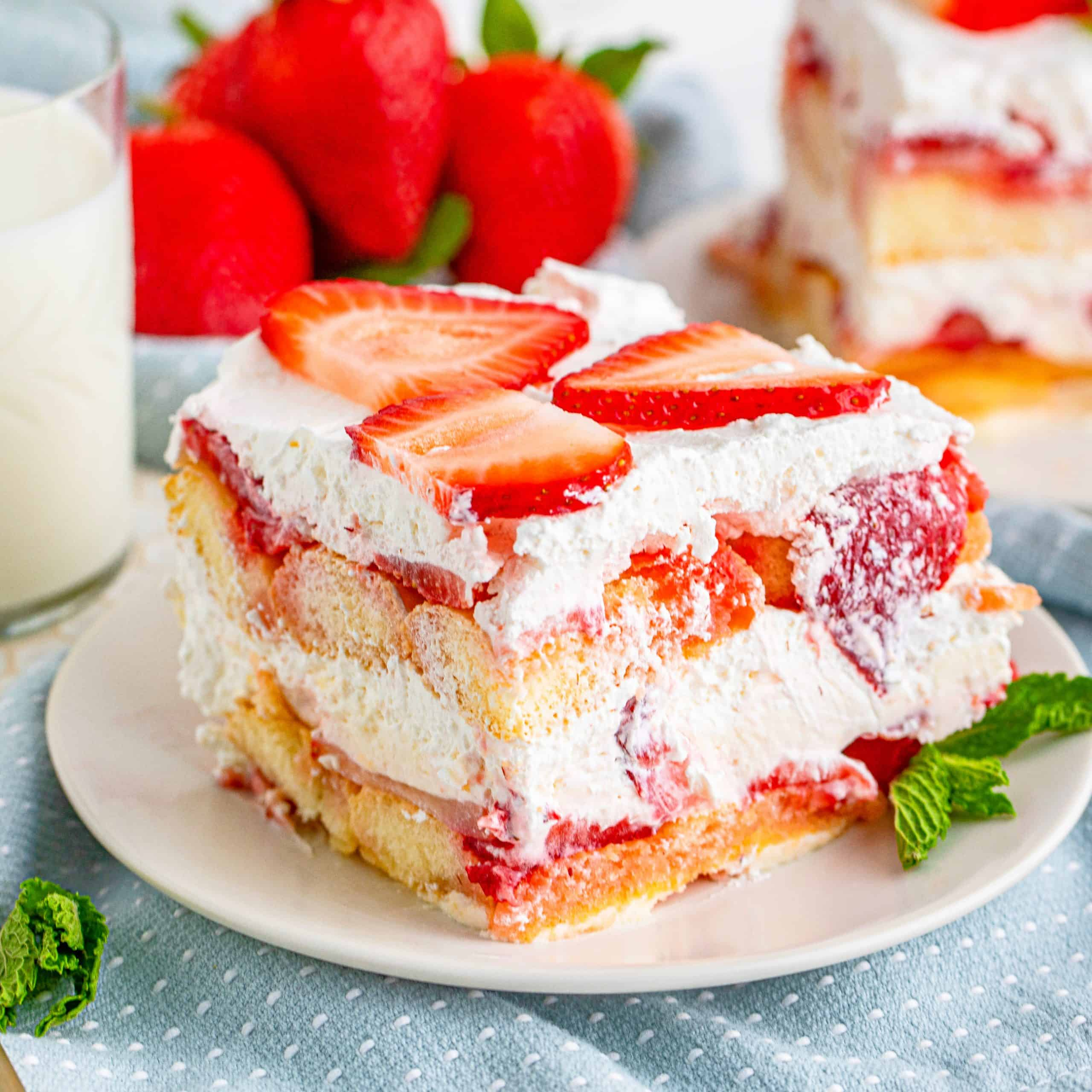 Cake: No-Bake Strawberry Tiramisu