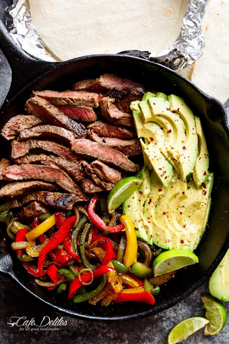 Chili Lime Steak Fajitas