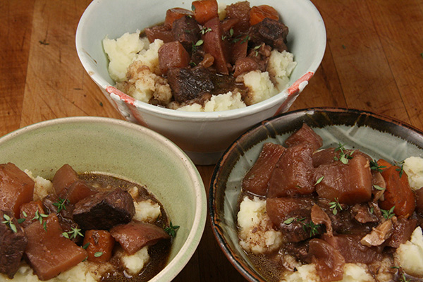 Beef Stew With Red Wine And Herbs - Early Morning Farm