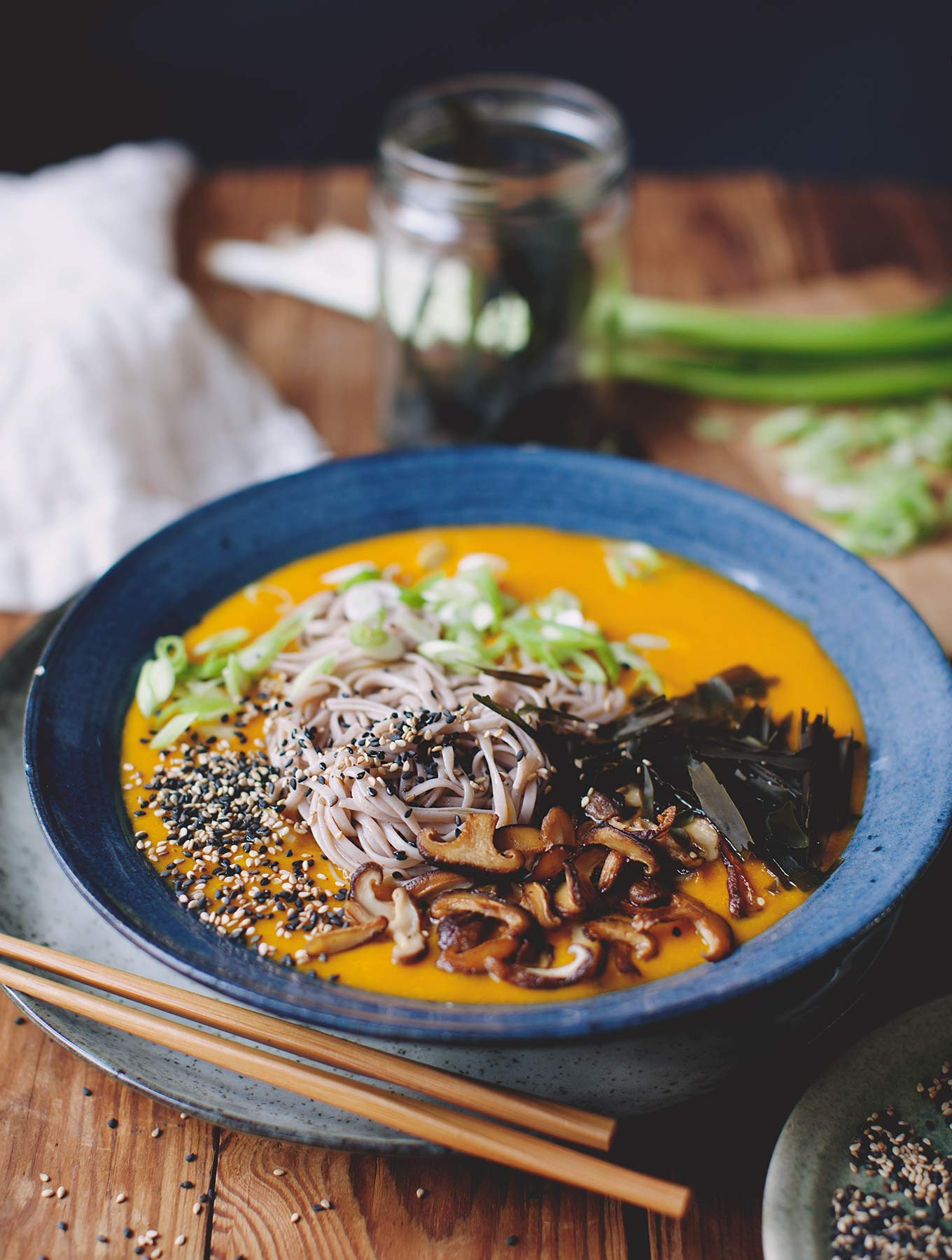 Pumpkin Miso Broth With Soba - My New Roots