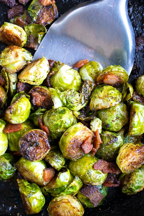 Crispy Brussels Sprouts With Bacon - Evolving Table