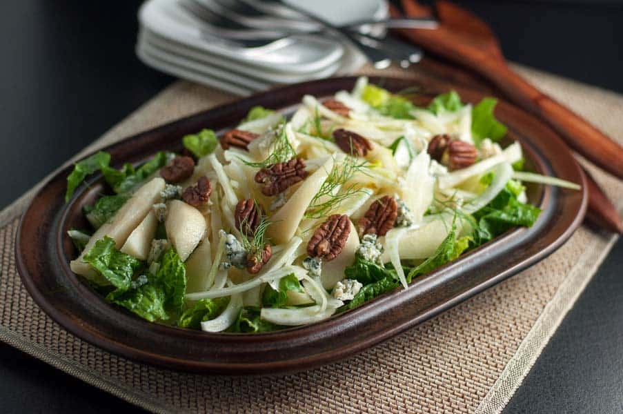 Crispy Pear And Fennel Salad With Walnuts And Mint- Flavour And Savour