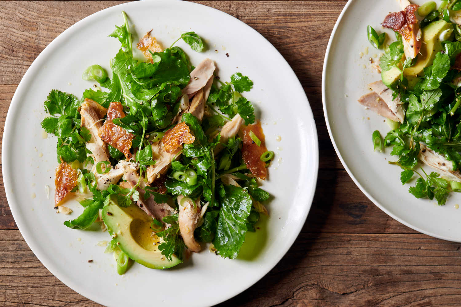 Rotisserie Chicken Salad With Greens And Herbs Recipe