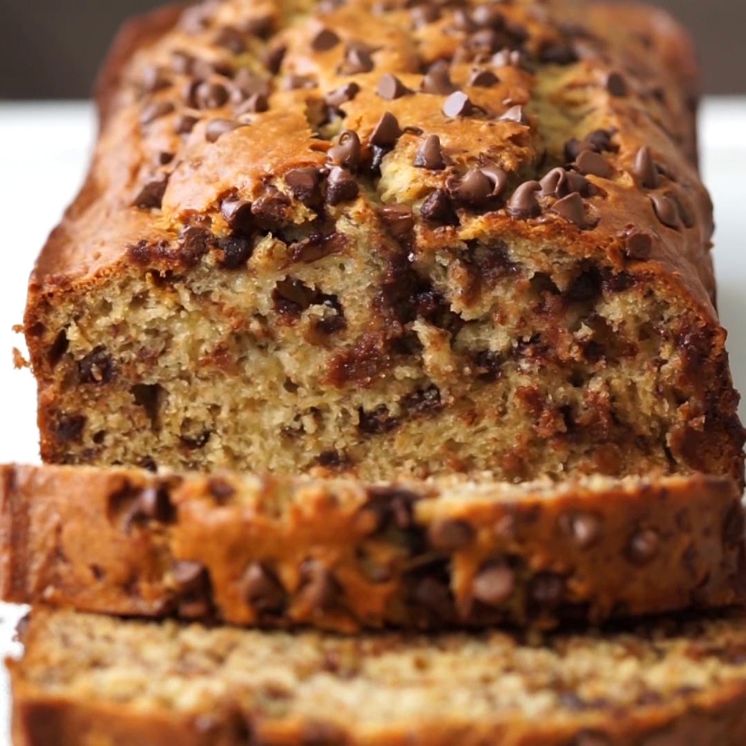 One Bowl Chocolate Chip Banana Bread Recipe By Tasty