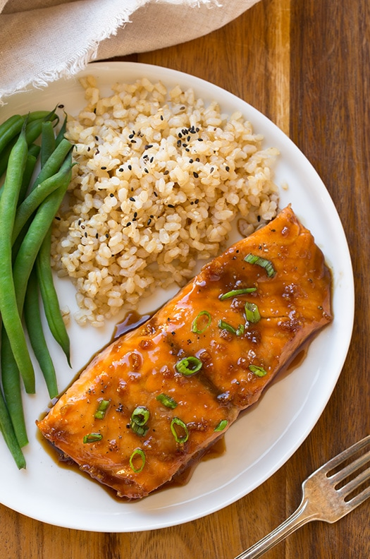 Soy-Maple Glazed Salmon (Easy Baked Salmon Recipe!) - Cooking Classy