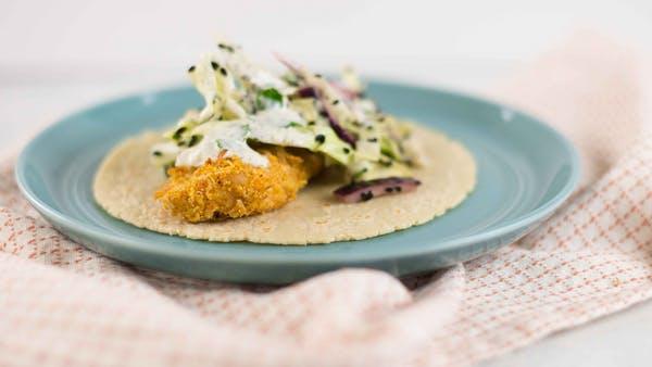 Paleo Crispy Coconut Fish Tacos