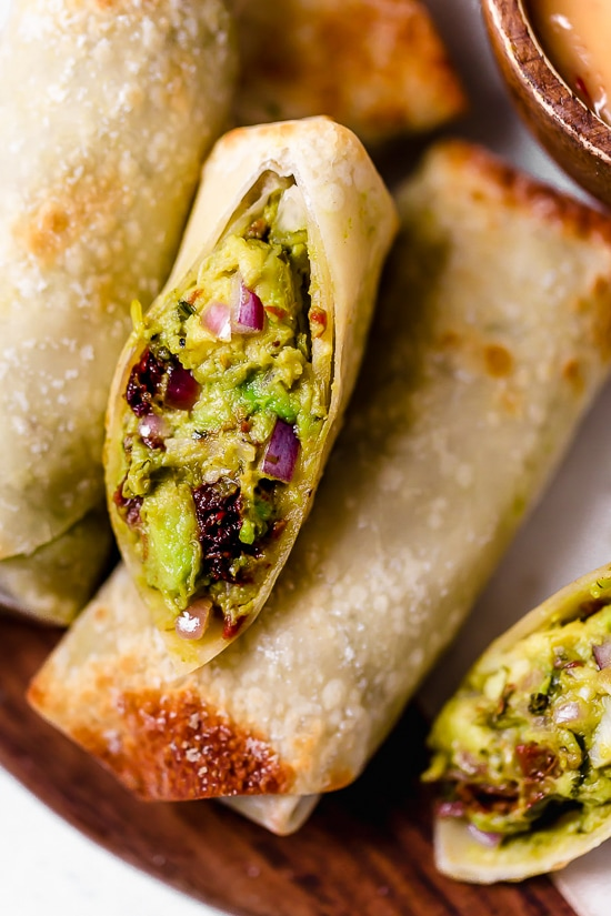 Avocado Egg Rolls with Sweet & Spicy Dipping Sauce