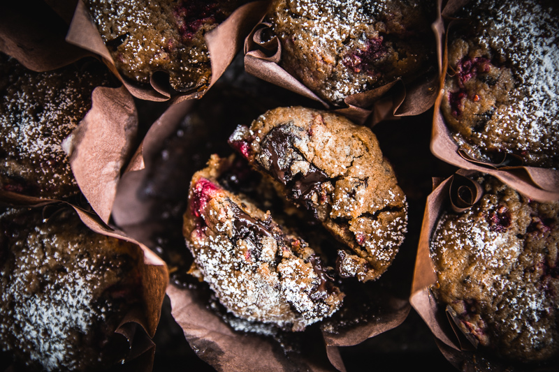 Bourke Street Bakery Dark Chocolate Raspberry Muffins - Cook Republic