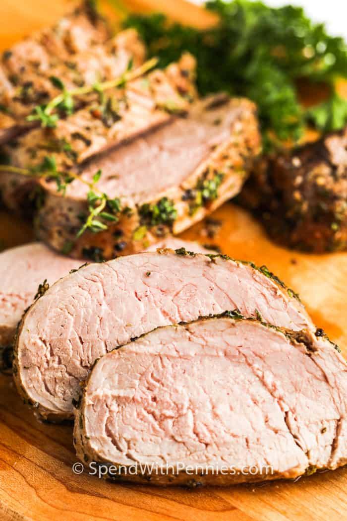 Pork Tenderloin: Herb Crusted