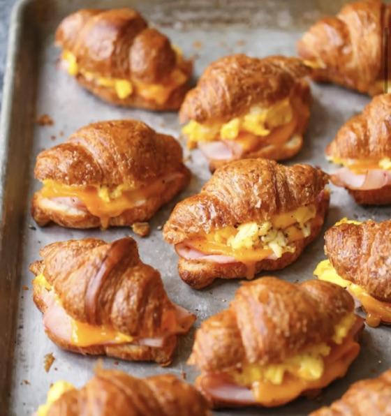 Make-Ahead Croissant Egg Sandwiches