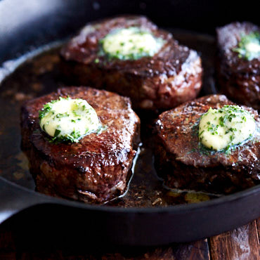 Restaurant-Style Filet Mignon With Compound Butter - Ifoodblogger