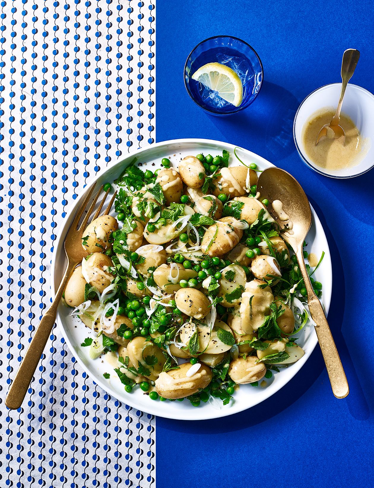 Potato And Pea Salad With Herb Dressing Recipe