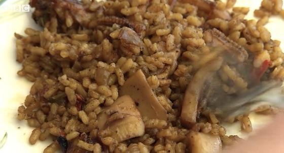 Squid And Rice Italian Style