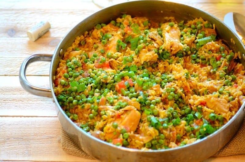 Chicken Thighs: Brazilian Saffron Rice