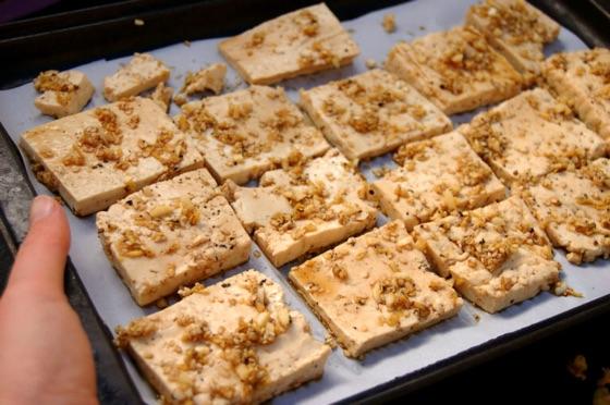 Sesame Ginger Baked Tofu