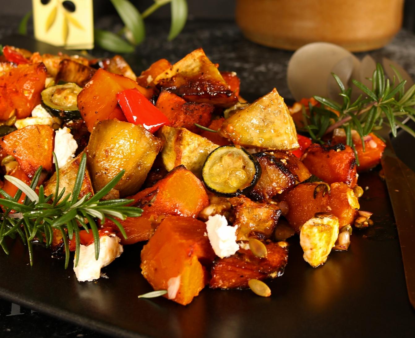 Roast Vegetable Salad With Maple Dressing |
