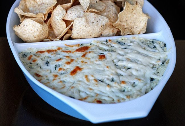 Hot N' Cheesy Kale & Artichoke Dip | The Kitchen Magpie