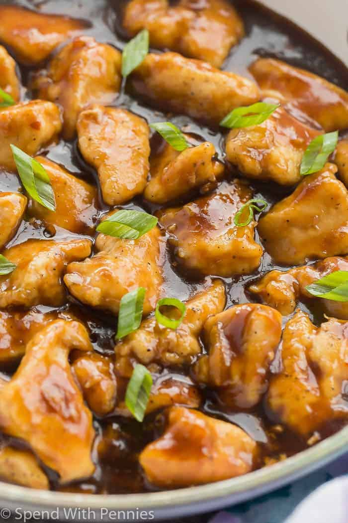 Skillet Orange Chicken Recipe {30 Min Meal!} - Spend With Pennies