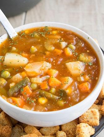 Easy Vegetable Soup Recipe (One Pot) Easy Vegetable Soup Recipe (One Pot) | One Pot Recipes