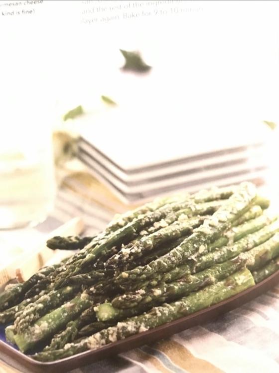Garlic Parmesan Asparagus THM S