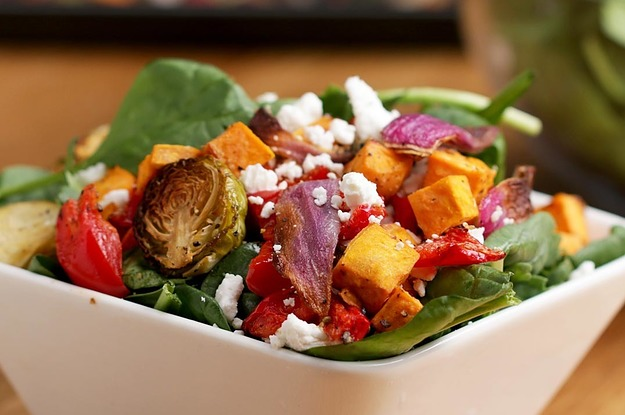 Roasted Veggie Salad With Maple Balsamic Vinaigrette