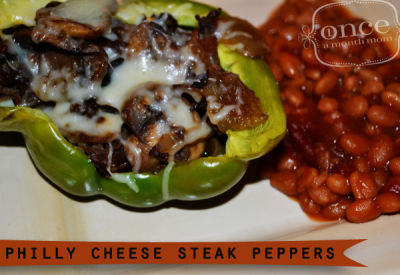Philly Cheesesteak Stuffed Peppers | Once A Month Meals
