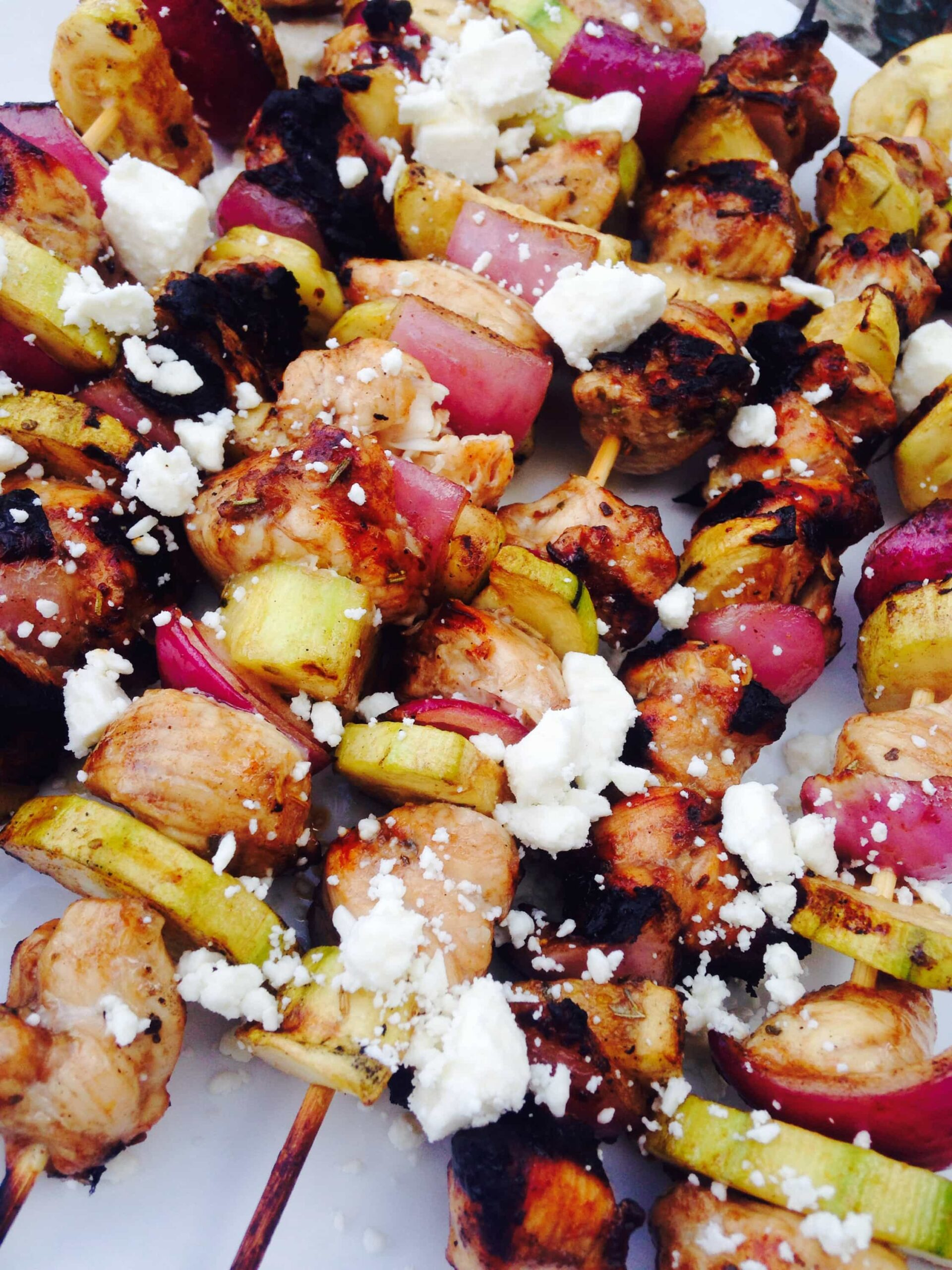 Balsamic Chicken And Zucchini Skewers - Confessions Of A Fit Foodie