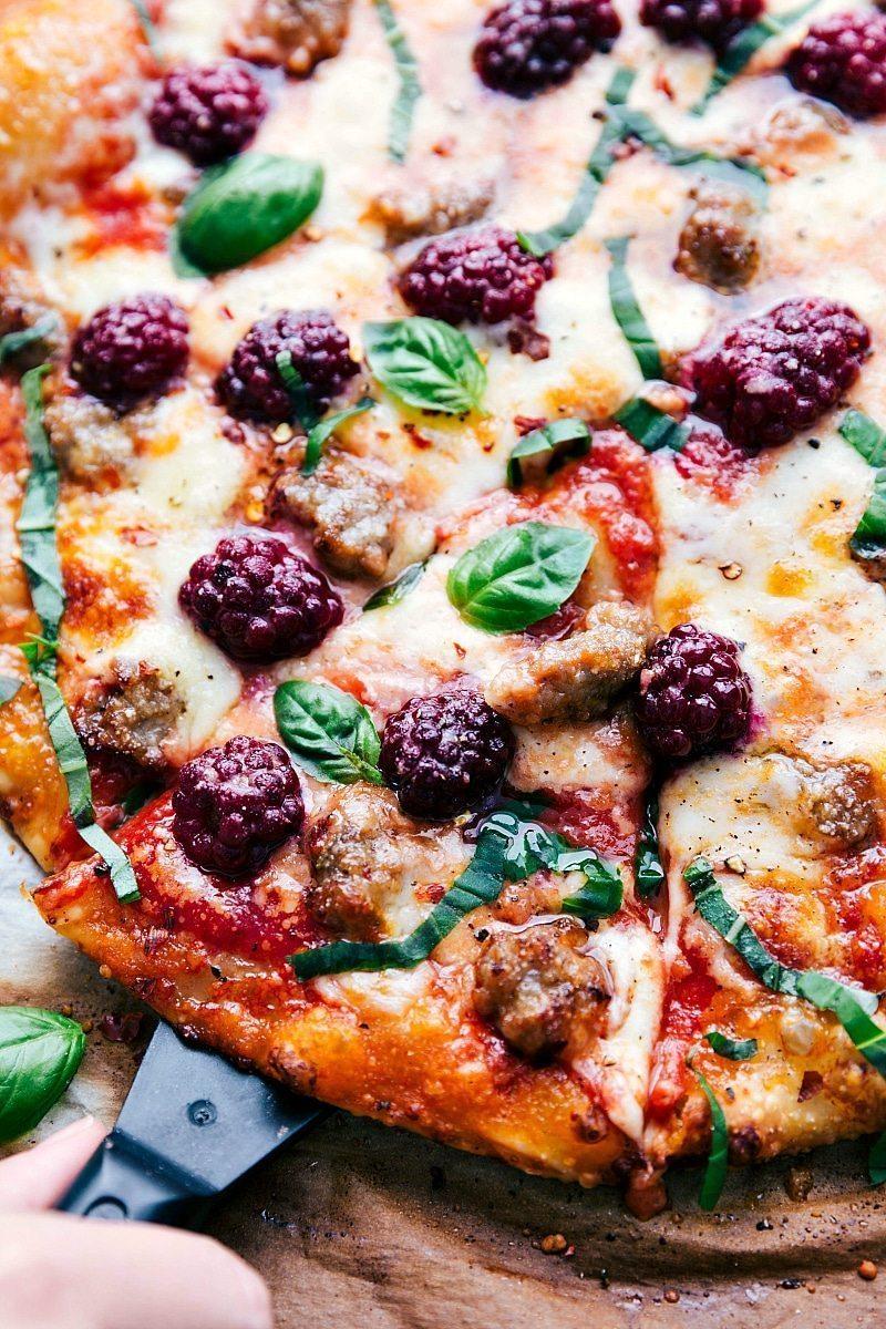 Sausage & Blackberry Pizza