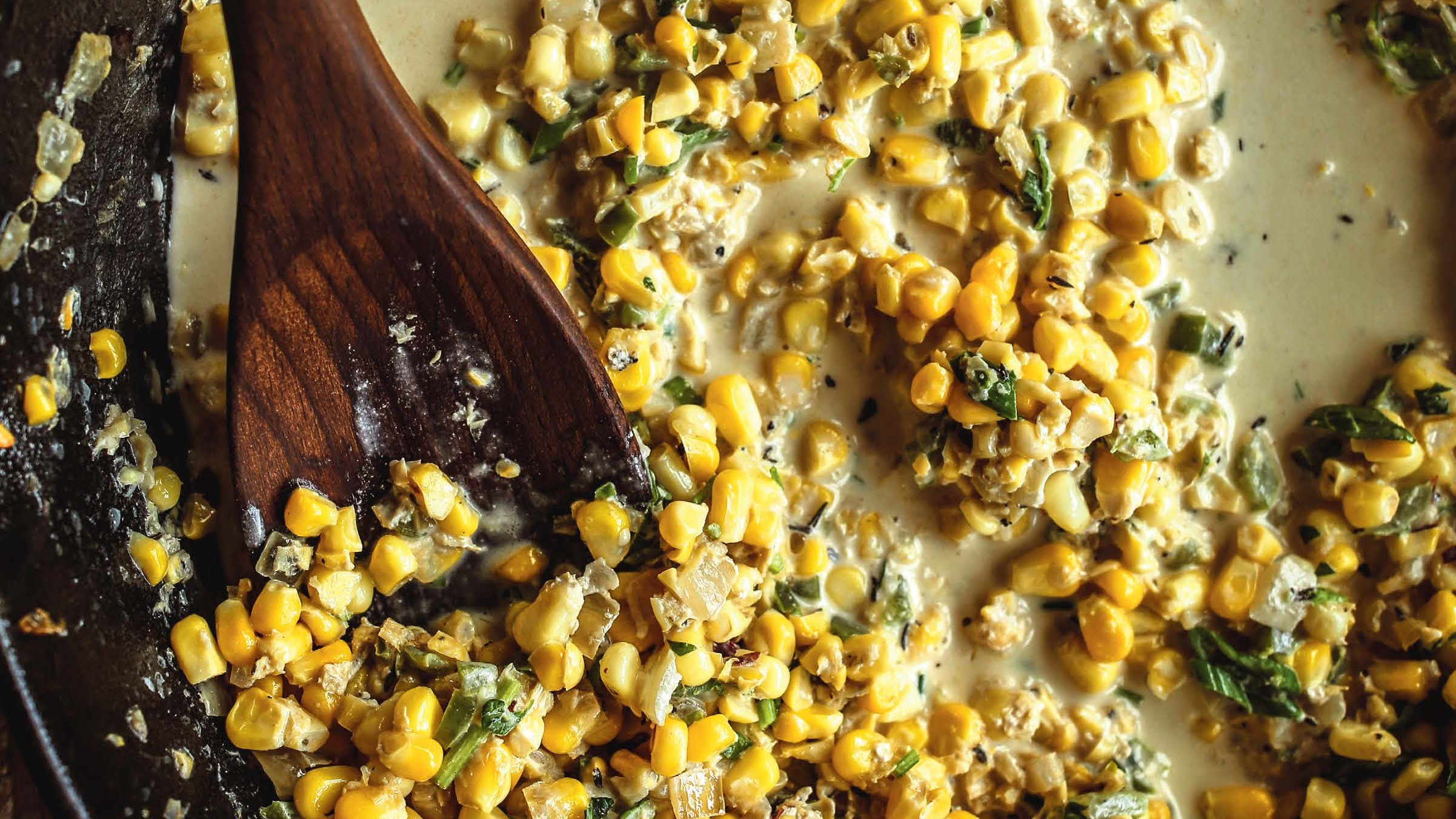 Corn: Maque Choux (Fried Corn With Green Peppers)