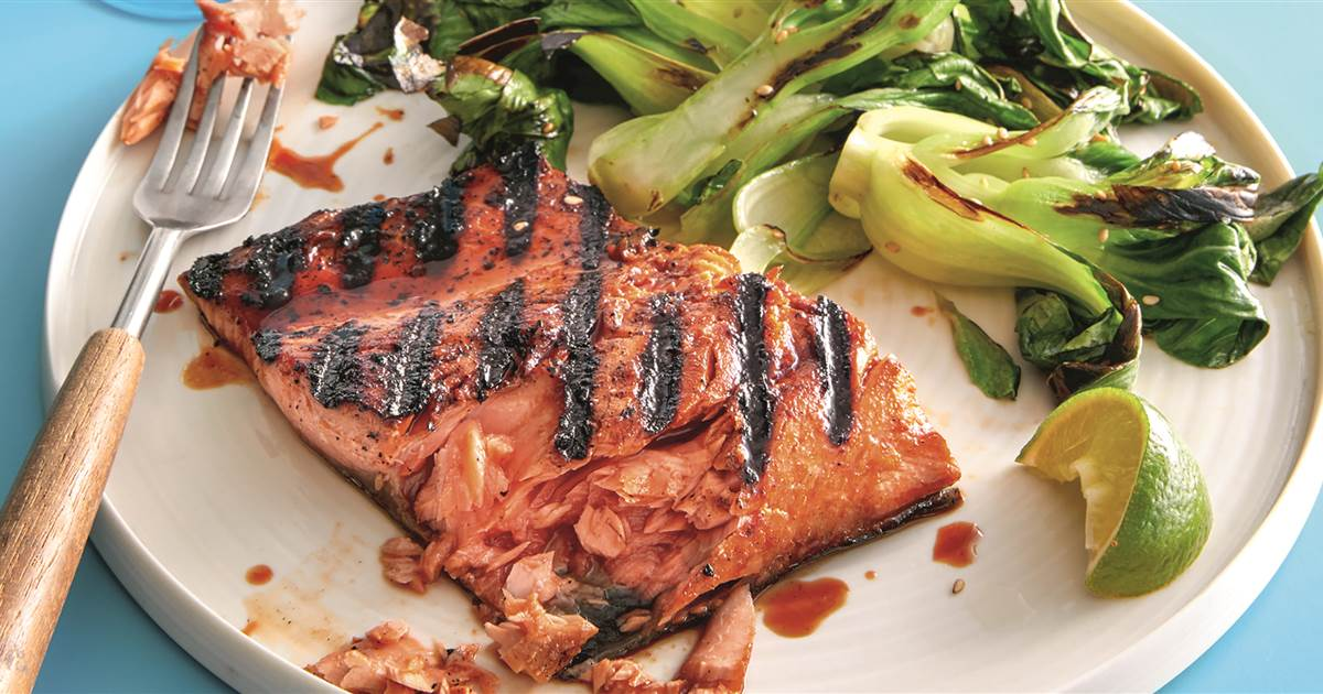 What To Cook This Week: Soy-Honey Grilled Salmon With Umami Roasted Vegetables