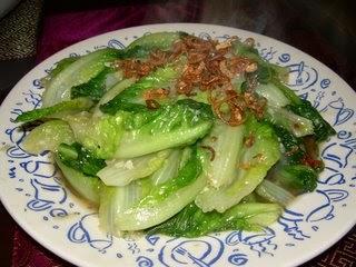 Stir Fried Yau Mak With Garlic