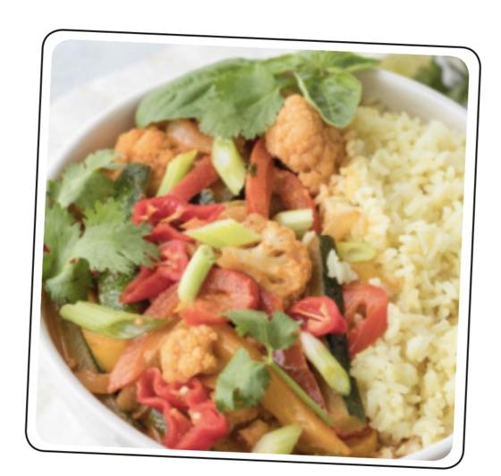 Basmati Rice Veggie Curry