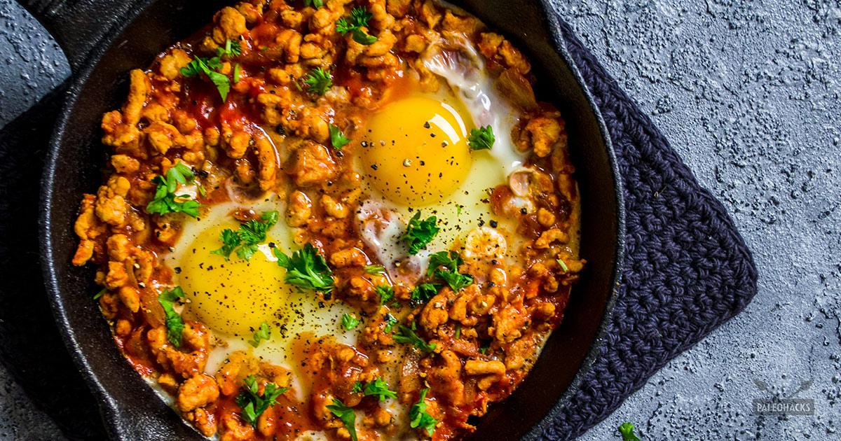 Keto Turkey and Egg Breakfast Skillet Recipe (whole 30 friendly)