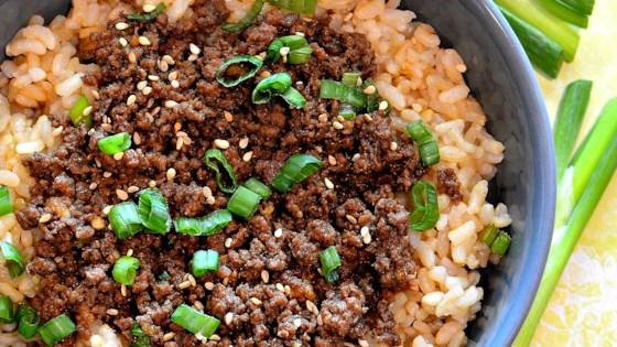 Easy Korean Ground Beef Bowl -  9/10