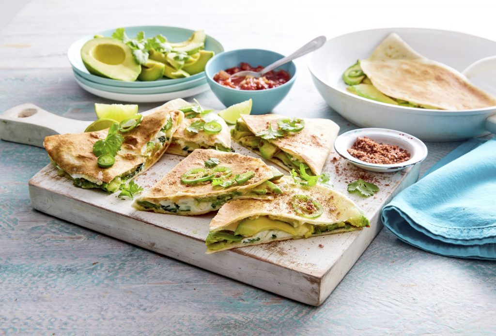 Spicy Avocado, Egg And Three Cheese Quesadillas - Australian Avocados Spicy Avocado, Egg And Three Cheese Quesadillas