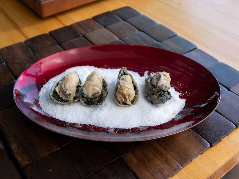 """Truffle Creamed Spinach And Fried Oysters (Old-School Vegas) - Marc Murphy, """"Chopped"""" & Chef/Restaurateur, Guest On """"Guy's Ranch Kitchen"""" On The Food Network."""