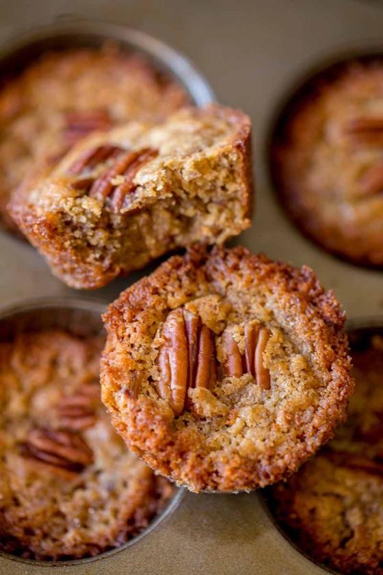 Pecan Pie Muffins - Dinner, Then Dessert