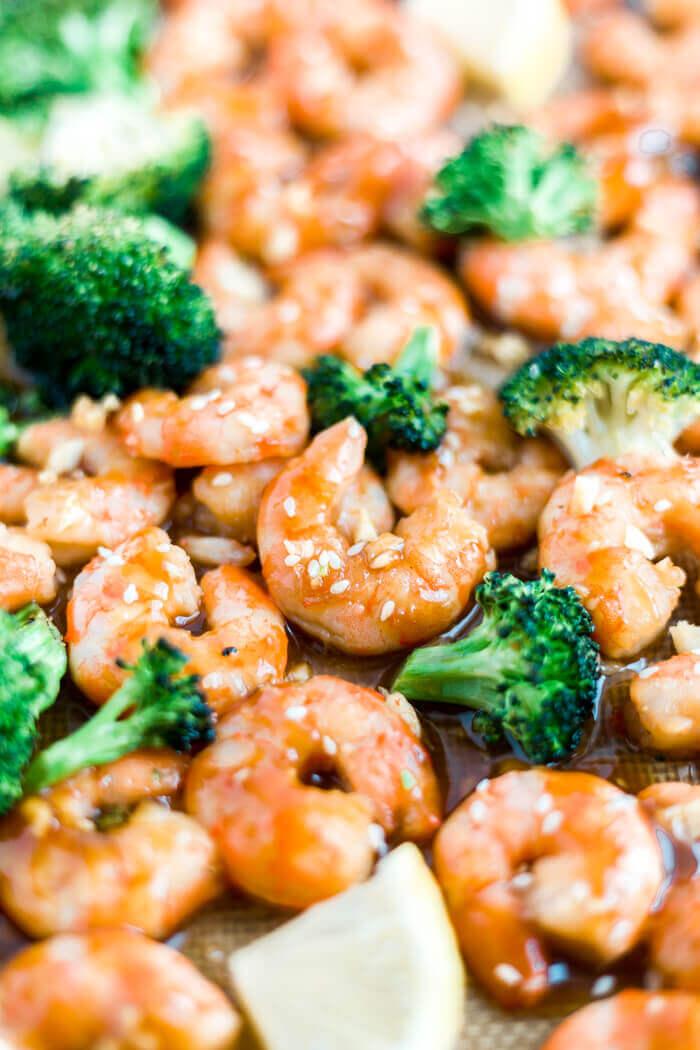Sheet Pan Honey Garlic Shrimp   What Molly Made