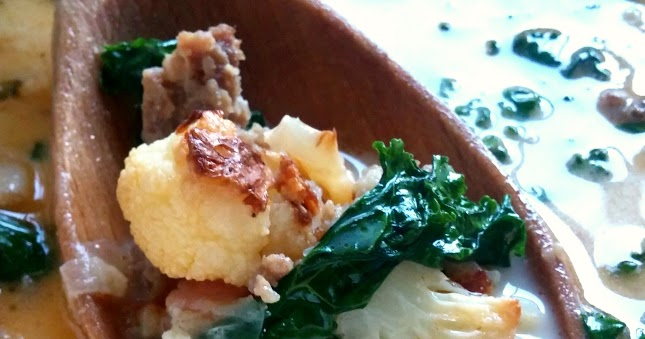 Zuppa Toscana With Roasted Cauliflower {Low Carb!}