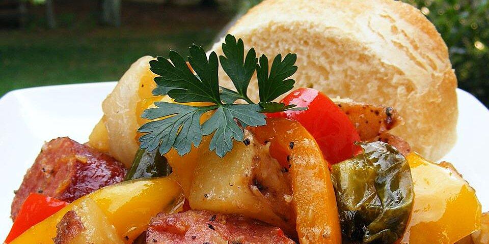 Sausage: Kielbasa With Peppers And Potatoes